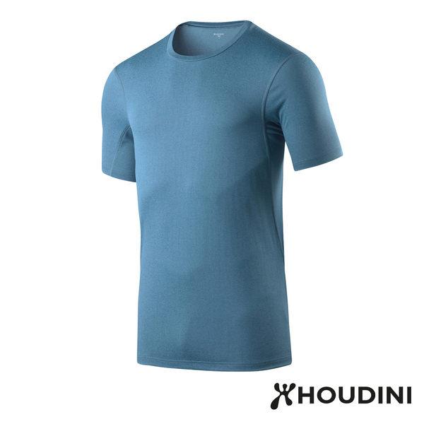 瑞典 Houdini Dynamic Tee 舒適快乾短袖 男款 翻滾藍 #257524