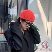 針織冷帽薄款圓頂帽子毛線瓜皮男韓版【櫻田川島】