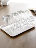 杯架帶托盤水杯掛架客廳創意家用晾玻璃杯