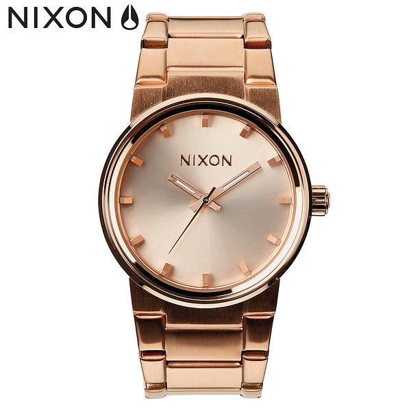 NIXON手錶 原廠總代理A160-897 The Cannon搶眼魅力鋼帶腕錶玫瑰金 鋼錶帶 男女 運動 生日情人節禮物