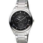agnes b. Solar 驚豔巴黎太陽能日曆手錶-銀/40mm V14J-0CG0D(BT5009P1)