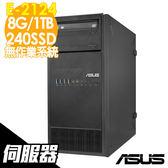 【現貨】ASUS伺服器 TS100-E10 E-2124/8GB/240SSD+1TB/NoOS 商用伺服器