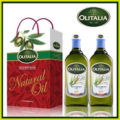 【Olitalia】奧利塔玄米油禮盒組(1000mlx2)