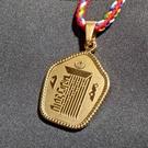 時輪金剛咒牌 十相自在 柒金 鋼合金 項鍊 吊飾