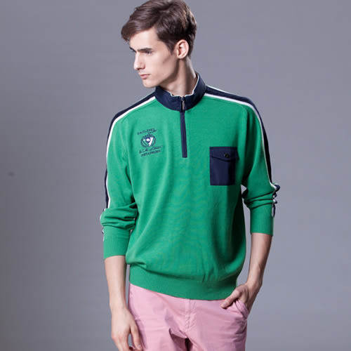*86精品*綠色/藍色帆布毛衣,大膽的顏色色調,展現不同的風情。【86865-60】
