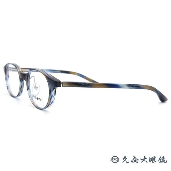 tonysame 日本眼鏡品牌 TS10537 395 (透藍黃) 圓框 近視眼鏡 久必大眼鏡