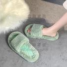 棉拖鞋女可愛時尚防滑鞋子女冬季家用室內耐臟毛毛鞋【白嶼家居】