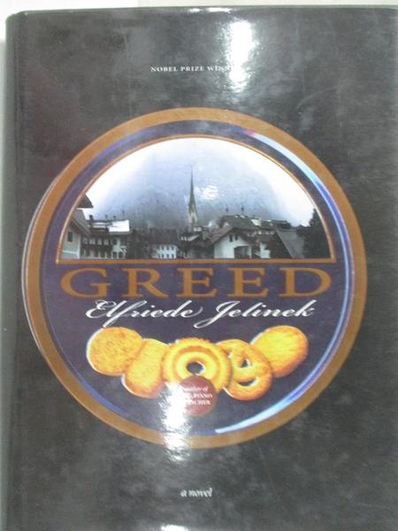 【書寶二手書T1/原文小說_BO6】Greed_Jelinek, Elfriede/ Chalmers, Martin (TRN)