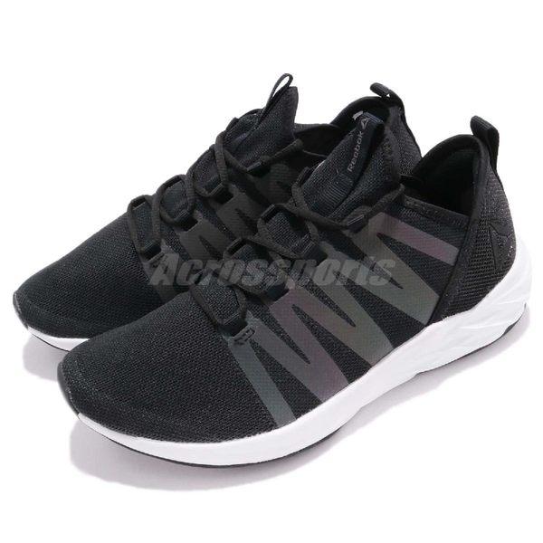 Reebok 慢跑鞋 Astroride Future 黑 白 反光設計 黑白 襪套式 運動鞋 女鞋【PUMP306】 CM8732