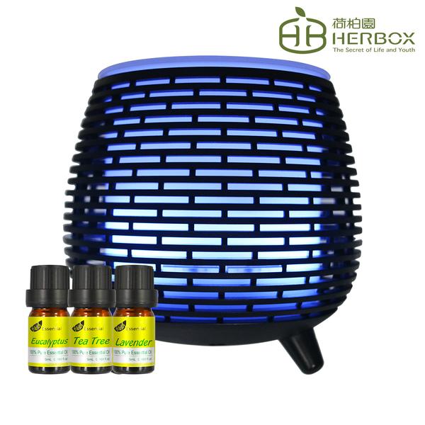 荷柏園Herbox 室內防護水氧機組+5ml精油3入 [茶樹+尤加利+薰衣草]