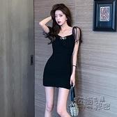 法式修身小禮服年夏季新款網紗拼接性感夜店女裝小個子洋裝 衣櫥秘密