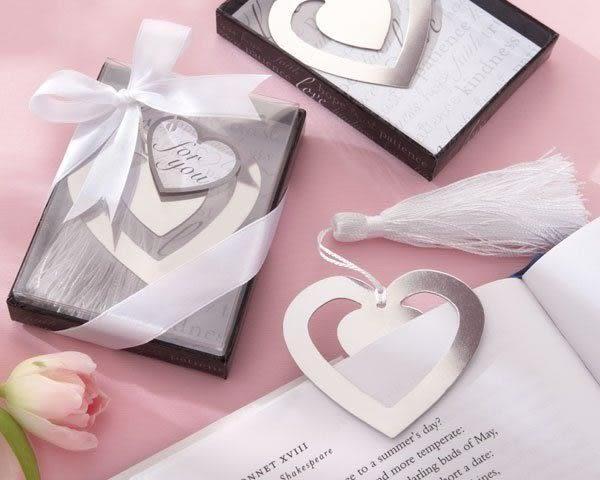 婚禮小物~~愛心書籤造型禮盒 /個