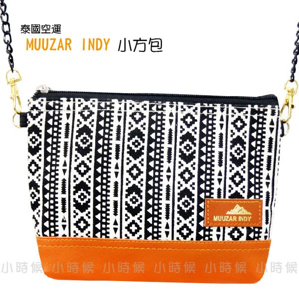 ☆小時候創意屋☆ 泰國品牌 MUUZAR INDY 直條圖騰 小方包 側背包 斜背包 手機包 零錢包 長夾 BKK包