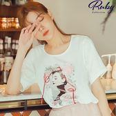 上衣 赫本蕾絲短袖上衣-Ruby s 露比午茶