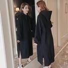 洋裝女裝連帽衛衣裙加絨加厚中長款打底裙