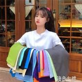 新款春夏純棉短袖t恤女韓版chic寬鬆休閒百搭印花學生上衣潮 海角七號