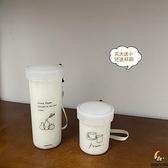 耐高溫塑料水杯牛奶便攜隨手杯【創世紀生活館】
