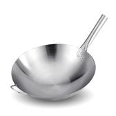 不銹鋼爆炒鍋廚房烹飪單柄炒鍋多用炒鍋家用 i萬客居