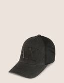 美國代購 AX ARMANI EXCHANGE 黑色 LOGO 遮陽帽