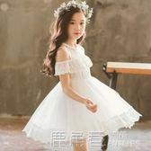 公主裙女童超洋氣超仙蓬蓬紗夏季韓版兒童表演服禮服漏肩洋裝子 鹿角巷