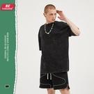 2021暗黑風歐美寬鬆短袖T恤 複古美式街頭嘻哈體恤T恤 潮流時尚高街原創T恤 男生小眾設計T恤