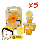 【蜜蜂故事館】百花蜜芒果布丁(100g±5g*6入組)×5盒
