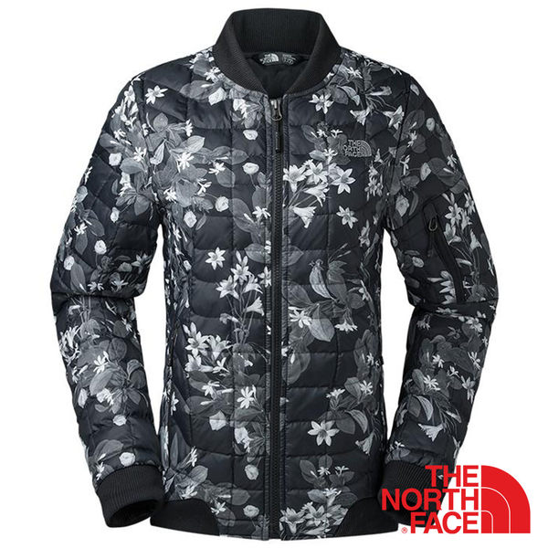 【美國 The North Face】女 ThermoBall暖魔球保暖外套『黑色/印花』NF0A35CR 鋪棉外套 防潑水