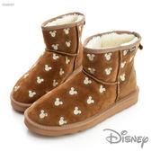 Disney 童趣生活~俏皮 短筒雪靴-棕