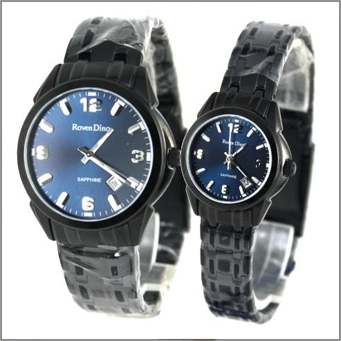 【萬年鐘錶】 Roven Dino 羅梵迪諾 楊丞琳代言 全黑藍對錶 RD631B-RD632B