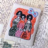 *Mita *MI 0499 森林系手繪風剌繡蕾絲別針胸針三姊妹