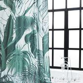 植物園北歐浴簾優質布料防水防霉原創品牌設計清新叢植款YYS 概念3C旗艦店
