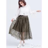 CANTWO鏤空細條蕾絲長裙(共二色)~春夏新品登場