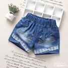 兒童牛仔短褲女童夏季新款外穿熱褲小學生中大童韓版百搭褲子 店慶降價