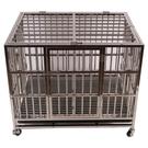 寵物籠 廠家批發不銹鋼折疊大中小型狗籠寵物用品寵物窩不銹鋼狗籠子狗窩
