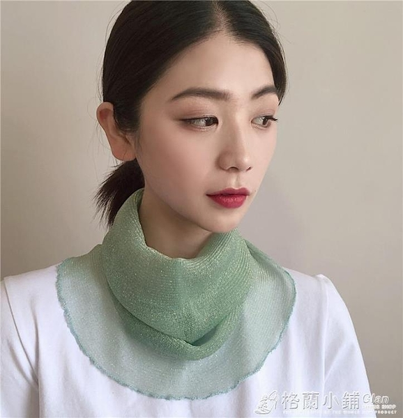 韓版夏秋季面罩套頭圍脖女士防曬遮陽口罩薄款透氣面紗脖套小絲巾 格蘭小鋪