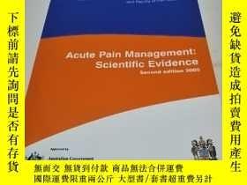 二手書博民逛書店Acute罕見Pain Management : Scientific EvidenceY23235 Acut