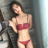 紅色無鋼圈四角杯新品內衣小胸厚款聚攏調整型側收副乳女文胸套裝 艾尚旗艦店