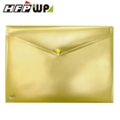 【HFPWP】香檳色 鈕扣橫式文件袋公文袋 A4 板厚0.18mm台灣製 GF230-CB