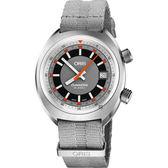 Oris豪利時 CHRONORIS 日期機械錶-灰/39mm 0173377374053-0751923
