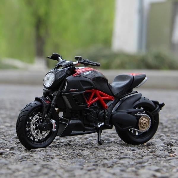 美馳圖1 18KTM RC390川崎H2R杜卡迪雅馬哈仿真機車合金摩托車模型  【快速出貨】