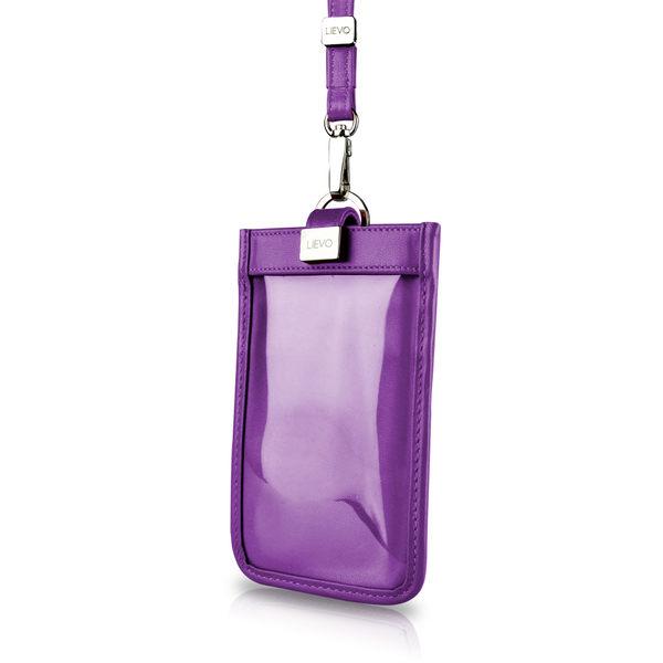 【LIEVO】 TOUCH - 頸掛式真皮手機套_深紫紅(iPhone XS / iPhone XS Max / Note 9 / 5.7 吋螢幕以下手機皆適用)