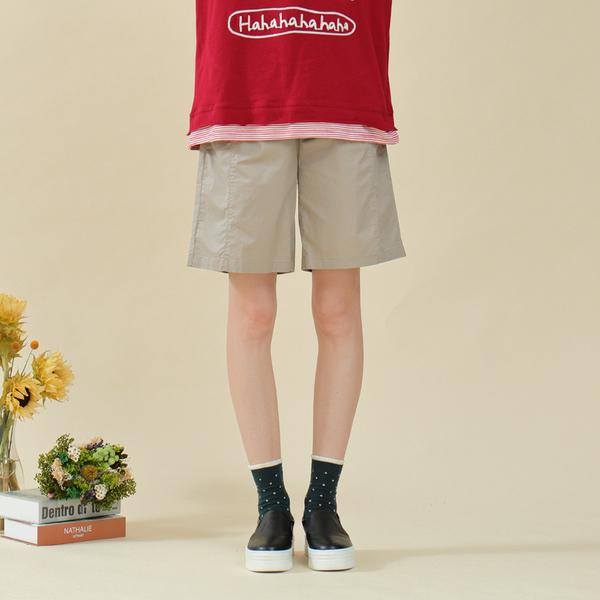 【中大尺碼】前剪接舒適彈力短褲
