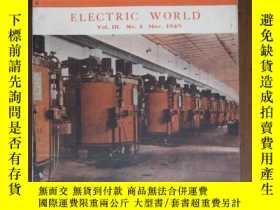 二手書博民逛書店罕見民國38年三月號第三卷第八期電世界Y5642