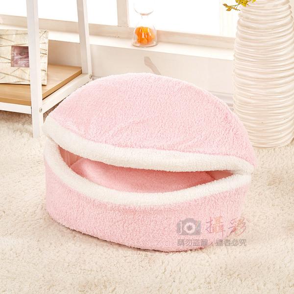 攝彩@漢堡寵物窩 可獨立拆開沙發兩用型 墊子可洗 銅鑼燒造型貓床狗窩 貝殼窩 保暖厚實 馬卡龍窩