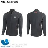 【AROPEC】男款戶外 AquaThermal 防風防寒刷毛拉鍊上衣-企鵝 SS-Z5K76M-AT