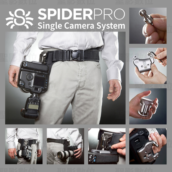 SpiderPRO CSC 單機快速腰掛套組 Single Camera System 立福公司貨