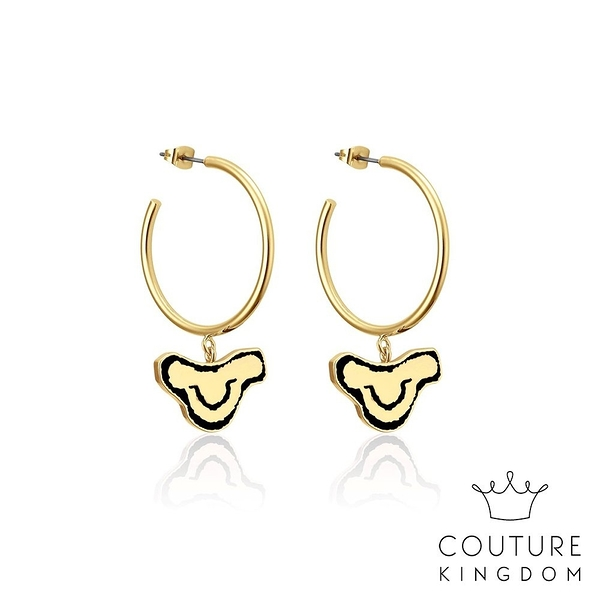 Couture Kingdom 迪士尼獅子王辛巴鍍14K金圓圈耳環 The Lion King Simba Hoop Earrings