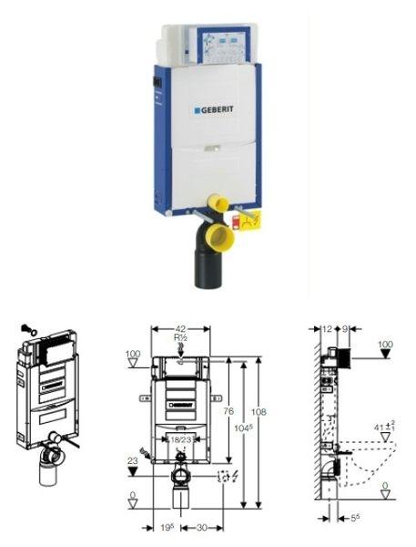 【麗室衛浴】瑞士GEBERIT 埋壁式水箱 (磚牆式)+雙沖水面板含 AXA ROND系列 12010  懸掛馬桶