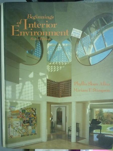 【書寶二手書T9/設計_QEW】Beginnings of Interior Environment_Allen,Sti