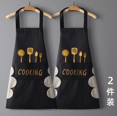 圍裙 買一送一家用廚房防水防油可愛日系韓版男女時尚定制工作服圍腰罩衣【快速出貨八折下殺】